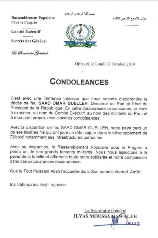 Messages De Condoléances La Nation